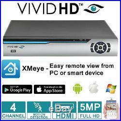 5mp Cctv System 4ch 8ch Hdmi Dvr VIVID Hd Cctv Camera Outdoor Night Vision Kit