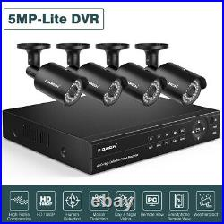 6IN1 8CH 1080N 5MP-Lite DVR 3000TVL Outdoor Camera CCTV Security System Kit IP66