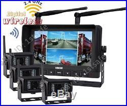 7 Digital Quad Wireles Rear View Reversing Camera Kit System For Farm Forklift