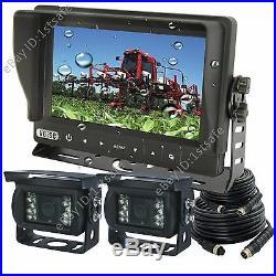 7 Digital Reversing Rear View Camera Kit, Waterproof Monitor+2 Cameras For Boat