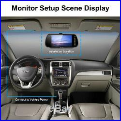 7 Easy-Fit Mirror Monitor Reversing Camera-Black Sony 700TVL CCD Twin Lens Kit