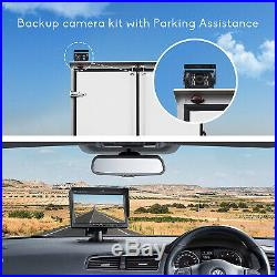 7 HD Back up Monitor Dual Rear View Reversing Camera Kit for Truck Trailer Bus