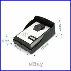7 Inch Night Vision Video Door Phone Doorbell Intercom 1-camera 3-monitors Kit
