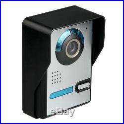 7 Inch Video Door Phone Doorbell Intercom Kit Night Vision 1-Camera 2-Monitor