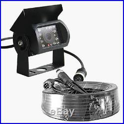 7 QUAD MONITOR 4x IR CCD CAMERA FRONT REAR SIDE VIEW 4 PIN KIT 12V 24V TRUCK