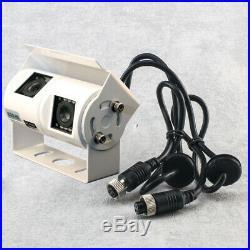 7 Quad Mirror Monitor + Reversing Camera-White Sony 700TVL CCD Twin Lens Kit