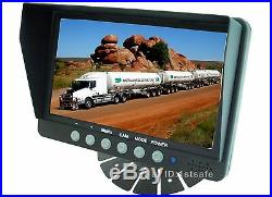 7 Rear View Reverse Reversing Camera Safety System Kit For Truck Tractor Rv
