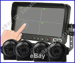 7 Split/quad Touch Screen Display+4 Side Cameras, Rear View Reverse System Kit