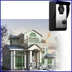 7 TFT/LCD Video Door Phone Doorbell Intercom Kit Night Vision Camera +2 Monitor