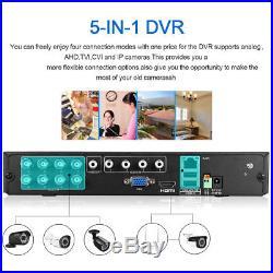 8CH 1080N DVR 3000TVL CCTV Surveillance Security Camera Night Vision System Kit
