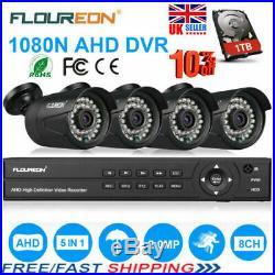 8CH 1080P 1080N AHD DVR Recoder 4X Outdoor 3000TVL Camera +1TB HDD Security Kit