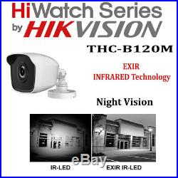 8CH 4CH Hikvision CCTV FULL HD 1080P Night Vision DVR Home Security System Kit