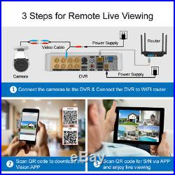 8CH 4IN1 5MP AHD DVR Outdoor 3000TVL 1080P Camera Home CCTV Security System Kit