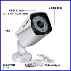 8CH 5IN1 DVR Outdoor 5MP HDMI Camera Home CCTV Security System Kit Night Vision