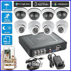 8CH AHD DVR CCTV Camera Outdoor Cam IR CUT Night Vision Security System Kit