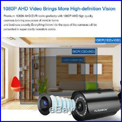 8CH CCTV 1080P DVR Night Vision Camera Outdoor 1TB HDD Home Security System Kit