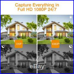 8CH CCTV 1080P NVR 3000TVL Wireless WIFI IP Camera Security System Kit +1TB HDD