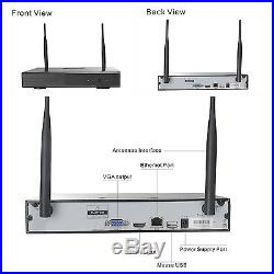 8CH CCTV Wireless Kit 1080P Wifi NVR Security System 2MP IP Cameras Night Vision