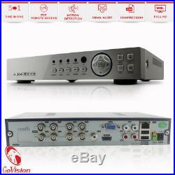 8CH Full HD CCTV 1080P 2.4MP Night Vision DVR Home Security System Outdoor Kit
