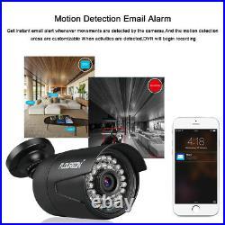 8CH HDMI 1080P DVR 4x 3000TVL Outdoor Security Camera CCTV System 1TB HDD Kit
