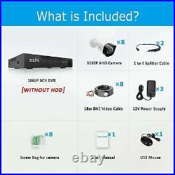 8CH HDMI DVR 1080P Night Vision Outdoor CCTV Security Camera System IR Night Kit