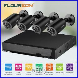8CH H. 264 HD DVR Outdoor 1080P CCTV Night Vision Home Security Camera System Kit