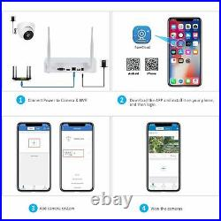 8CH Outdoor Home Security Camera System CCTV 2Way Audio Wireless 3MP 1TB HDD Kit
