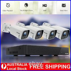 8CH POE NVR CCTV IP Camera Home Security Camera System Kit Outdoor Night Vision