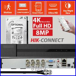8MP 4K 3840P 1080P CCTV HD IP66 NightVision Outdoor DVR Home Security System Kit