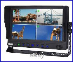 9 Inch Quad/split LCD Reversing Rear View Reverse Side View Camera Kit System