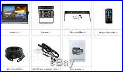 9 Quad Monitor DVR Video Recorder 32GB 4 x Camera Truck Backup CCD Camera Kit