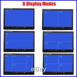 9 Quad Monitor Split Screen Reversing 3 Camera IR CCD 4PIN Kit Truck 24V/12V