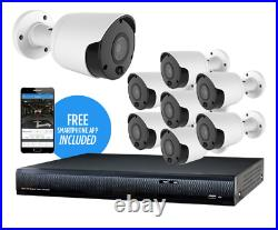 ALIBI HB3 5 MP 8-CAMERA 65 IR HD SECURITY KIT with 16 CHANNEL DVR 2TB HDD