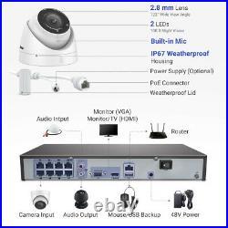 ANNKE 4K Video 8MP CCTV PoE System 8/16CH NVR Audio Camera Surveillance Kit IP67