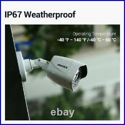 ANNKE 4pcs 4K Video 8MP Full Color CCTV Camera for Home Surveillance System Kit