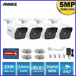 ANNKE 4pcs HD 5MP CCTV Outdoor Camera for Home Surveillance Security System Kit