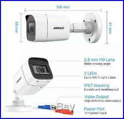 ANNKE 8CH 4K Ultra HD H. 265+ DVR System Video Surveillance Kit 8MP
