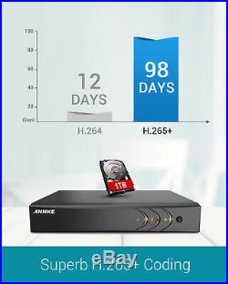 ANNKE 8CH DVR HD 3000TVL CCTV Camera Full Color Night Vision Remote System Kit
