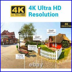 ANNKE 8MP CCTV 4K UHD DVR 8CH System Outdoor VIVID HD Camera Security Kit IP67