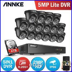 ANNKE CCTV Outdoor System 5MP Lite H. 265+DVR Night Vision Camera Security Kit IR