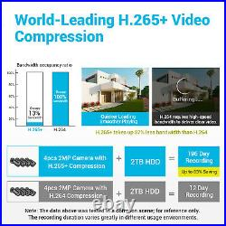 ANNKE HD 1080P CCTV Camera 8CH 1080P Lite DVR Home Security System Kit IP66 1TB