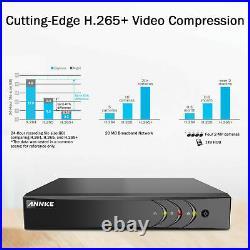 ANNKE HD 1080p PIR Dome CCTV Camera 5MP Lite 8CH DVR Security System Kit IP67 IR