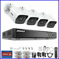 ANNKE Outdoor CCTV 5MP Bullet Camera 8CH 5IN1 H. 265+DVR Home Security System Kit
