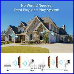 ANNKE Wireless CCTV 1080P NVR Kit WiFi IP Camera Home Security System Outdoor 1T
