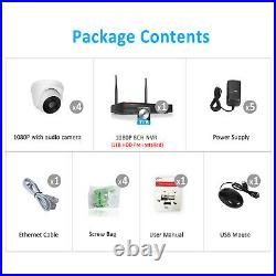 ANRAN 1080P Home Audio Security Camera System Wireless CCTV 8CH 1TB HDD WiFi Kit