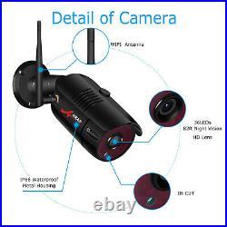 ANRAN 1080P Security Camera System CCTV Home Wireless 1TB Hard Drive HD 2Pcs Kit
