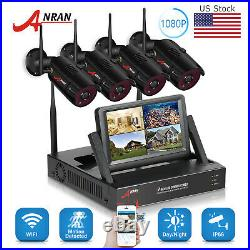 ANRAN 4CH 1080P Security Camera System Outdoor Wireless Home Security CCTV Kits