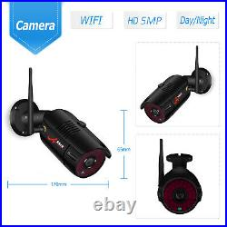 ANRAN 4/8CH 5MP FHD Outdoor Wireless Security Camera System Night Vision NVR Kit