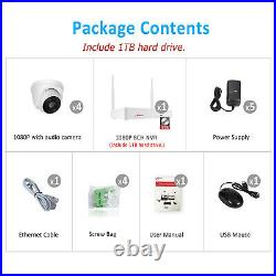 ANRAN Home CCTV Security Camera System Indoor 8CH Wireless HD 3MP 1TB Audio Kit