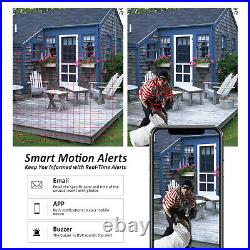 ANRAN Home Security Camera System 3MP 4CH WIFI NVR 1TB HDD Kit Wireless CCTV Kit